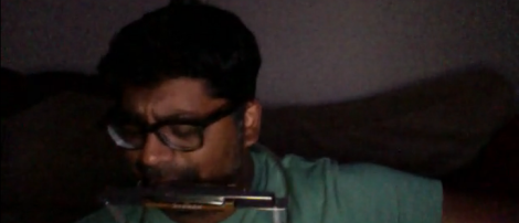 Rohit Colin Rao scratch recording of Gunshy with harmonica