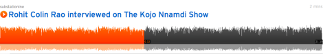 Rohit Colin Rao interviewed about Ultrasonic on the Kojo Nnamdi show
